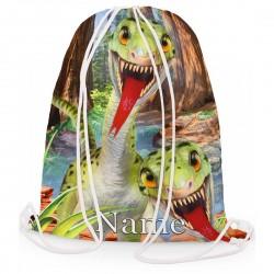 Personalised Dinosaur Raptors Gym Bag