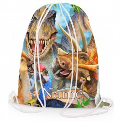 Personalised Dinosaur Selfie Gym Bag