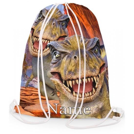 Personalised Dinosaur T-Rex Gym Bag