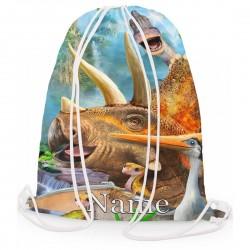 Personalised Dinosaur Triceratops Gym Bag
