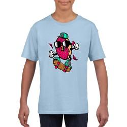 Donut Skateboarder Kids T Shirt - Skater Skateboard Funny