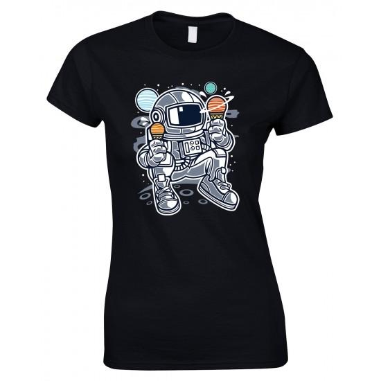 Astronaut Ice Cream, Ladies Space T Shirt