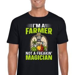 I'm A Farmer Not A Freakin' Magician Unisex Black T Shirt