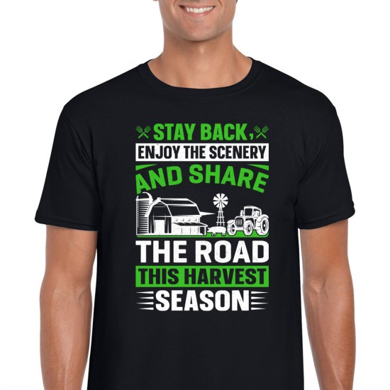 Stay Back And Share The Road Unisex Black T Shirt