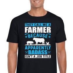 The call Me A farmer Unisex Black T Shirt