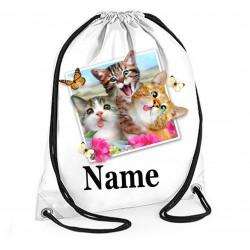 Personalised Cats Selfie Gym Bag