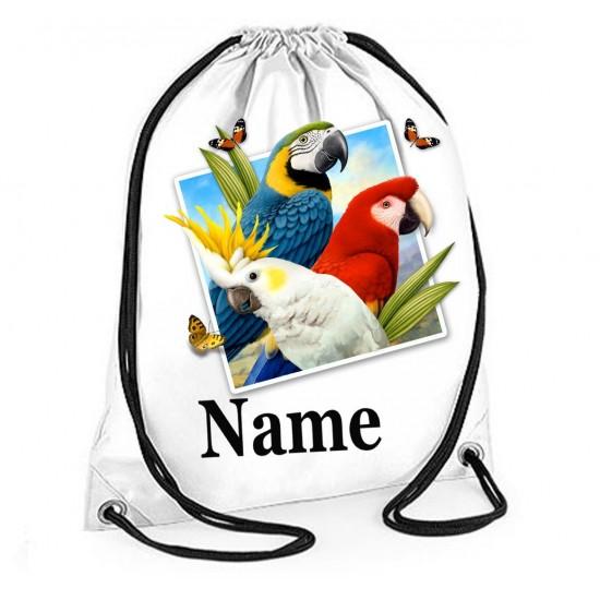 Personalised Parrots Selfie Gym Bag