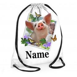 Personalised Piglet Selfie Gym Bag