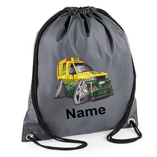 Personalised Koolart AA Breakdown Van 0174 Printed Gym Bag