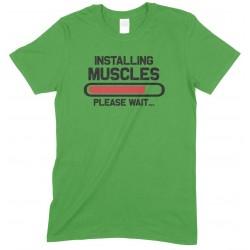 Installing Muscles Please Wait -Child's Gym T Shirt Boy/Girl