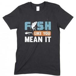 Fish Like You Mean It-Kids Unisex Fishing T Shirt-Boy- Girl