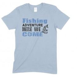Fishing Adventure Here We Come-Kid's T Shirt Boy/Girl