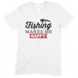Fishing Makes Me Happy-Fun Child's T Shirt