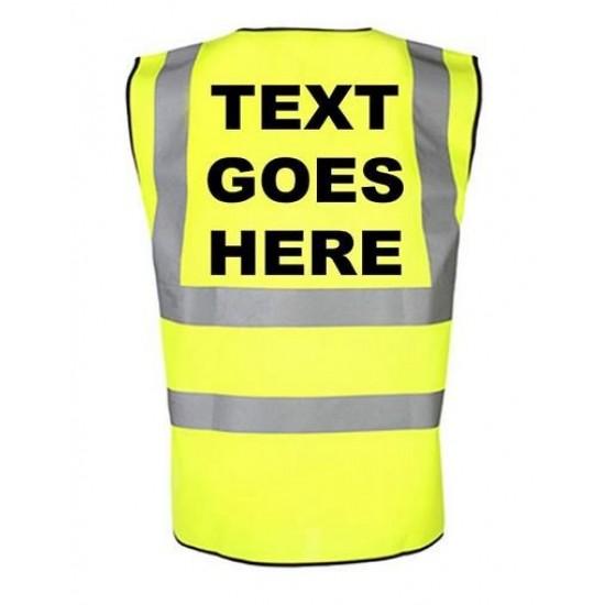 Personalised Childrens Hi Visibility Reflective Waistcoat/Vest
