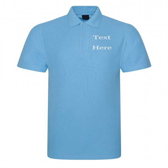 Personalised Embroidered Any Name Polo Shirt