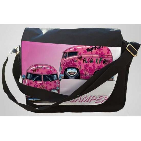 Koolart Camper Pink Van (2596)Personalised Messenger Bag