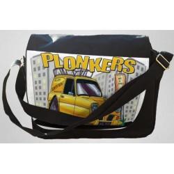 "Koolart  ""Plonkers"" Yellow (2920) Messenger/Reporters Bag"