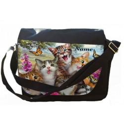 Personalised Cat Selfie Printed on Messenger/Reporters Bag.
