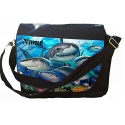 Personalised Shark Selfie Messenger/Reporters Bag.