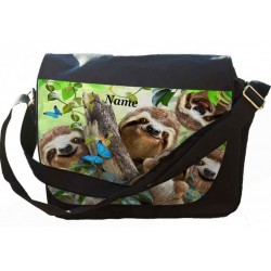 Personalised Sloth Selfie Messenger/Reporters Bag