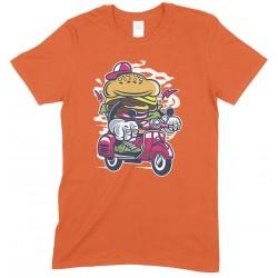 Burger Scooter ,Men's Novelty Funny T Shirt