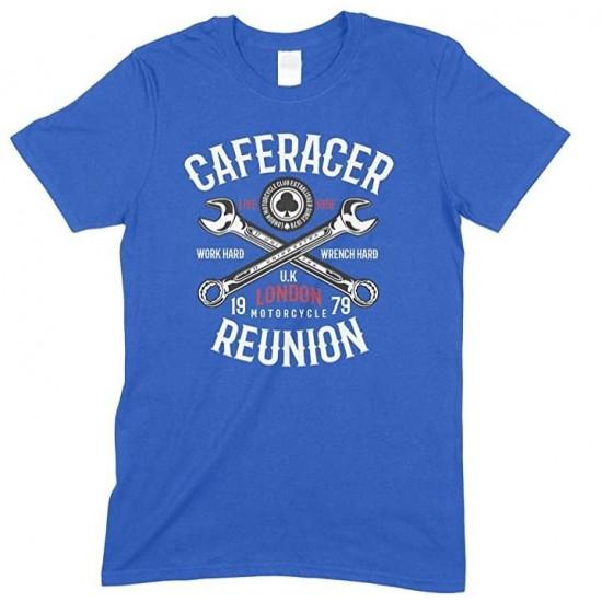 Caferacer Reunion Motorcycle London UK- Men's Unisex T Shirt