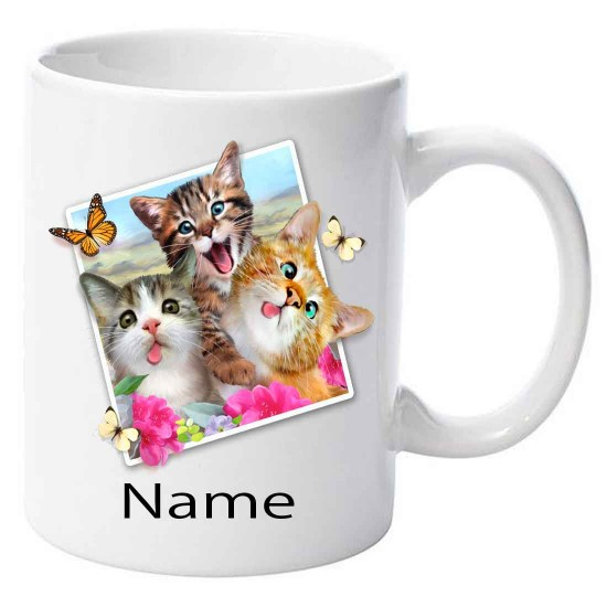 Personalised Cats Selfie  Ceramic Mug