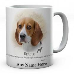 Personalised Beagle Dog Mug