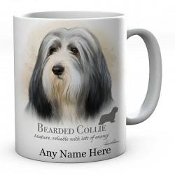 Personalised Bearded Collie Dog Mug