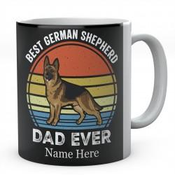 Personalised Best German Shepherd Dad Ever Mug