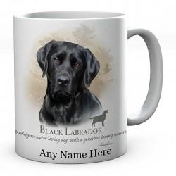 Personalised Black Labrador Dog Mug