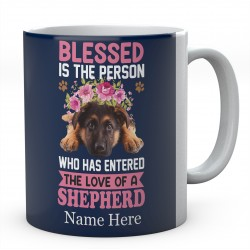 Personalised Blessed Is The Person Who Has Entered The Love Of A Shepherd Mug