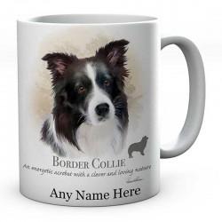Personalised Border Collie Dog Mug