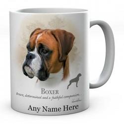 Personalised Boxer Dog Mug