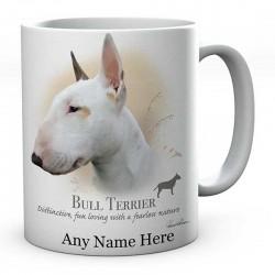Personalised Bull Terrier Dog Mug