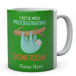 I Got So Much Procrastinating Done Today Personalised Sloth Ceramic Mug