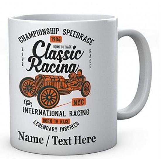 Championship Speedrace -Classic Racing-Born to Race- PersonalisedMug
