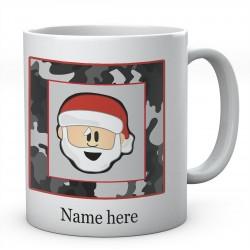 Christmas Santa Square Personalised Ceramic Mug
