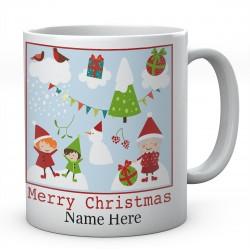 Merry Christmas Personalised Ceramic Mug