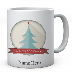 Merry Christmas Tree Personalised Ceramic Mug