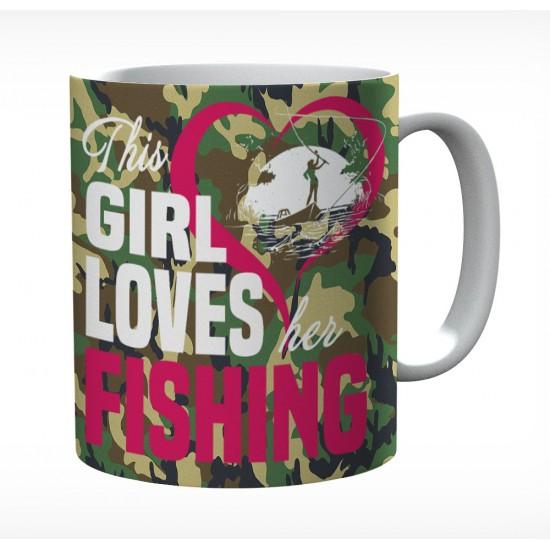 This Girl Loves Her Fishing Mug