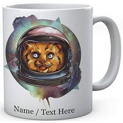 Cosmic Space Kitty - Personalised Ceramic Mug