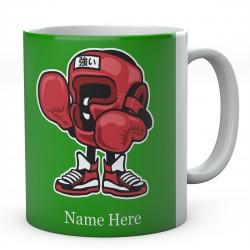 Boxing Champion Cartoon Funny Personalised Mug