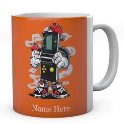 Brick Gamer Cartoon Personalised Mug