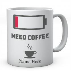 Need Coffee Personalised Funny Mug