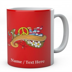 Peace Love-Personalised Mug