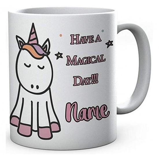 Personalised Printed Magical Unicorn,Ceramic Mug.