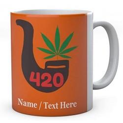 Weed 420 Pipe - Personalised Name Mug