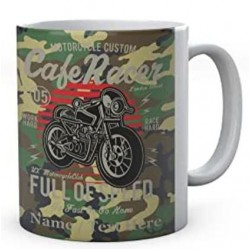 Motorcycle Custom Cafe Racer Full of Speed -Go Fast Or Go Home-Personalised Mug