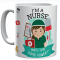 Personalised I'm A Nurse What's Your Superpower? Printed Ceramic Mug,Tea / Coffee Gift